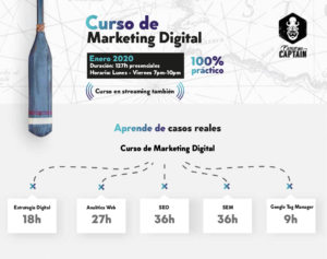 Curso de Marketing Digital presencial en Santiago - Excuse Me Captain - Campus Stellae